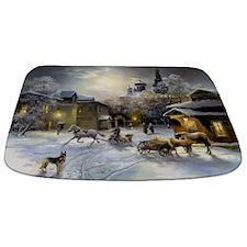 Russian Winter Painting Bathmat