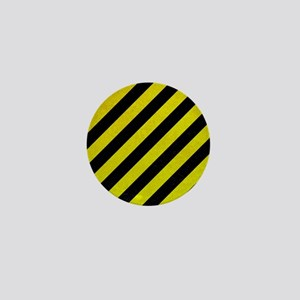Hazard Tape Mini Button
