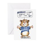 Cartoon Abrahamster Greeting Cards (Pk of 10)