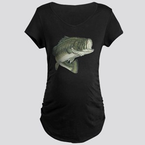 big bass Maternity Dark T-Shirt