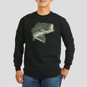 big bass Long Sleeve Dark T-Shirt