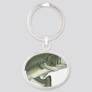 big bass Oval Keychain