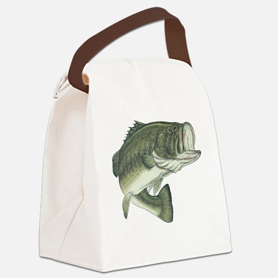 big bass Canvas Lunch Bag