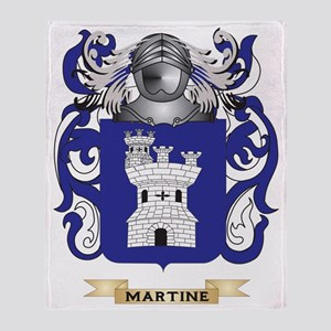 Martine Coat of Arms - Family Crest Throw Blanket