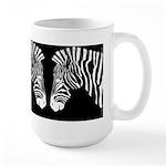Grant's Zebra portrait: negative. Large Mug