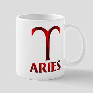 Red Aries Horoscope Symbol Mug