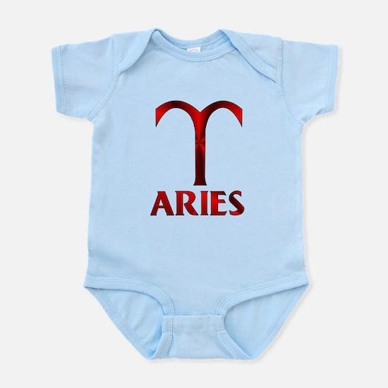 Red Aries Horoscope Symbol Infant Bodysuit