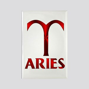 Red Aries Symbol Rectangle Magnet