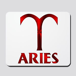 Red Aries Symbol Mousepad