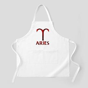 Red Aries Horoscope Symbol Apron