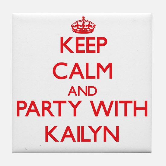 Keep Calm and Party with Kailyn Tile Coaster