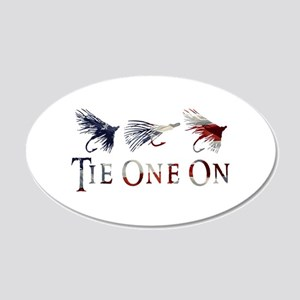 AMERICAN FLY FISHING 20x12 Oval Wall Decal