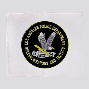 LAPD SWAT Throw Blanket