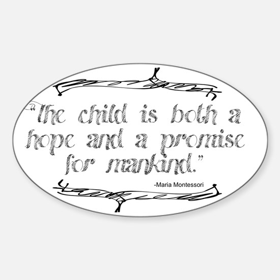 Hope  Promise Sticker (Oval)