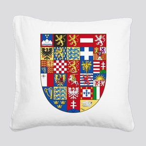 European Union Coat of Arms Square Canvas Pillow