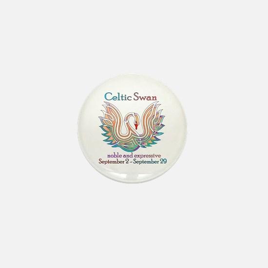 Celtic Swan Mini Button