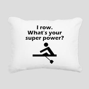 I Row Whats Your Super Power Rectangular Canvas Pi