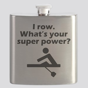 I Row Whats Your Super Power Flask