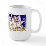 Cute Cartoon Rabbit Moon Large Mug