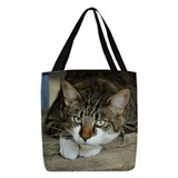 Tabby cat Polyester Tote Bag