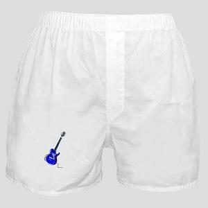guitar single cutaway music design blue Boxer Shor