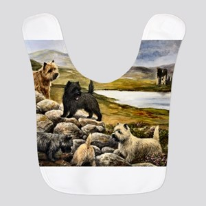 Cairn Terrier Polyester Baby Bib