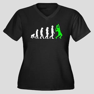Tennis Evolution (Green) Plus Size T-Shirt