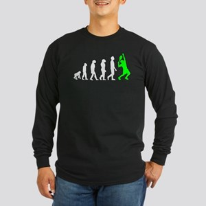Tennis Evolution (Green) Long Sleeve T-Shirt