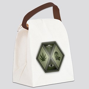 The Panic Hour Logo Canvas Lunch Bag