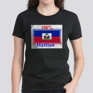100% Haitian Women's Dark T-Shirt