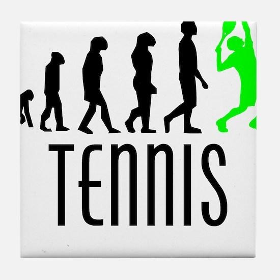 Tennis Evolution (Green) Tile Coaster