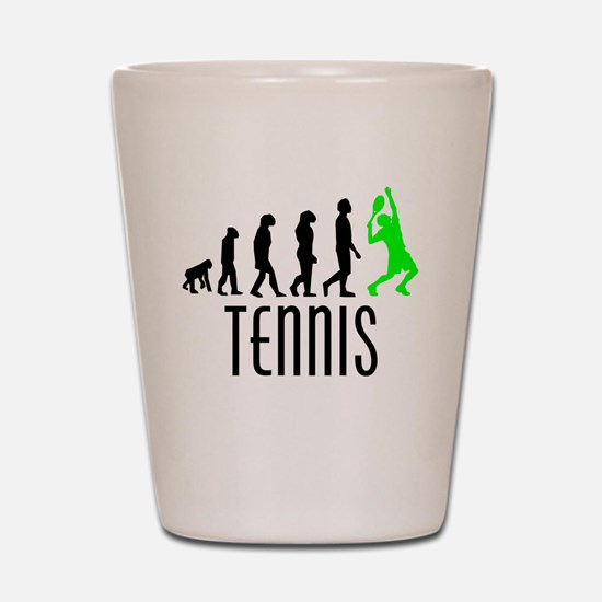 Tennis Evolution (Green) Shot Glass
