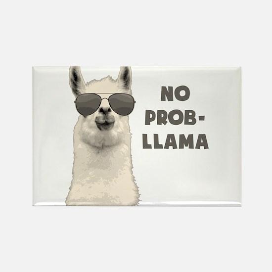 No Problem Llama Magnets