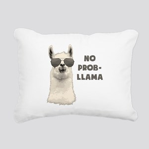 No Problem Llama Rectangular Canvas Pillow