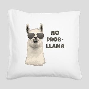 No Problem Llama Square Canvas Pillow