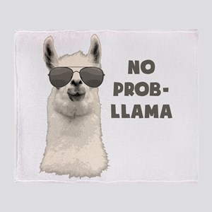 No Problem Llama Throw Blanket