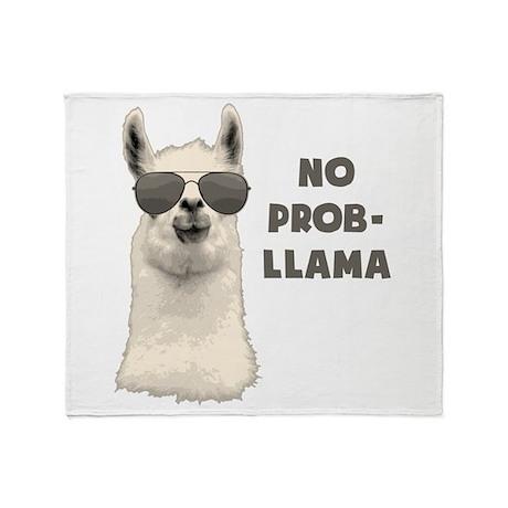 No Problem Llama Throw Blanket By TheShirtYurt Custom Llama Throw Blanket