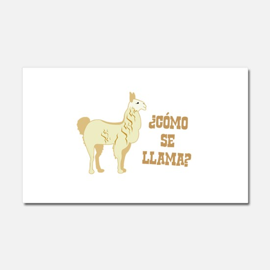 Como Se Llama? What is your name? Car Magnet 20 x