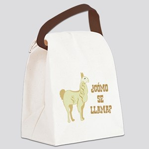 Como Se Llama? What is your name? Canvas Lunch Bag