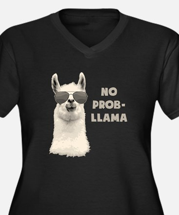 No Problem Llama Plus Size T-Shirt