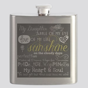 My Daughter Love and Inspirational Flask