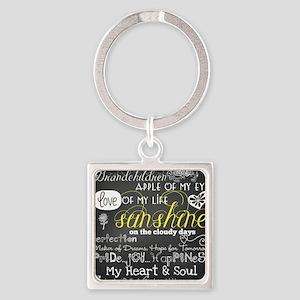 Grandchildren Love and Inspiration Square Keychain