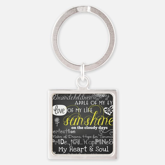 Grandchildren Love and Inspiration Square Keychain