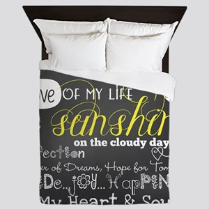 Grandchildren Love and Inspirational Queen Duvet