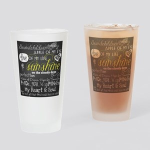 Grandchildren Love and Inspirationa Drinking Glass