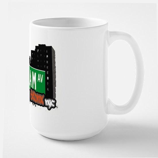 Popham Av, Bronx, NYC  Large Mug