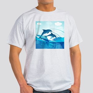 Abstract Dolphins Light T-Shirt