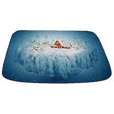 Surreal Christmas Fantasy Bathmat