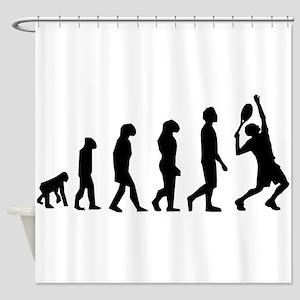 Tennis Evolution Shower Curtain