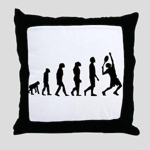 Tennis Evolution Throw Pillow